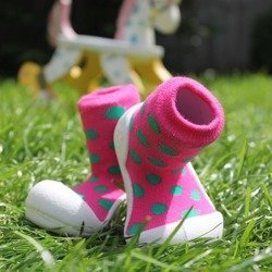 Attipas Pink Polka Dot Toddler Shoes AD03