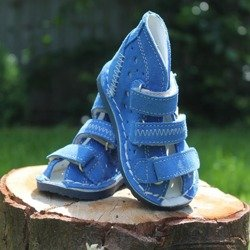 DANIEL BLUE LEATHER SHOES WZ T105