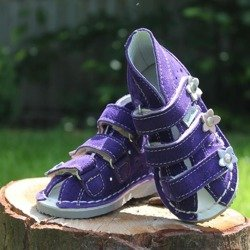 DANIEL PURPLE LEATHER SHOES WZ S124