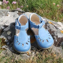 Emel Blue Leather Sandals E2436-1