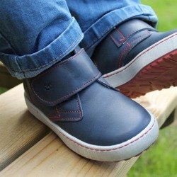 Emel Navy Leather Casual Shoes E2470-8