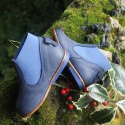 Emel Navy Nubuck Bow Shoes E2593-1
