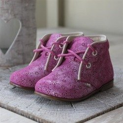Emel Pink Suede Leather Ankle Shoes E2351-3