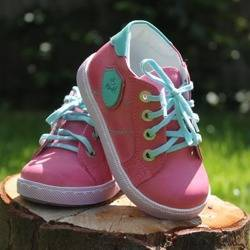Emel Pink/Turquoise Leather Trainers