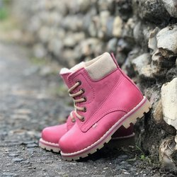 Emel  Pink leather Ankle Boots E2552-5