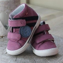 Emel Purple & Black Nubuck Leather Casual Shoes E2575-3