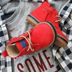 Emel Red Suede Leather casual shoes E2621