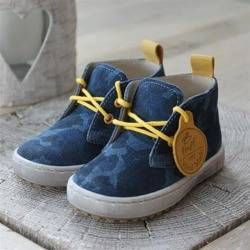 Emel blue camouflage pattern casual shoes E2284-8