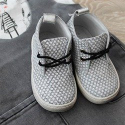 Emel grey patterned casual shoes E2284a-1