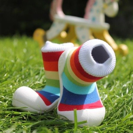 Attipas White Rainbow Toddler Shoes AR03