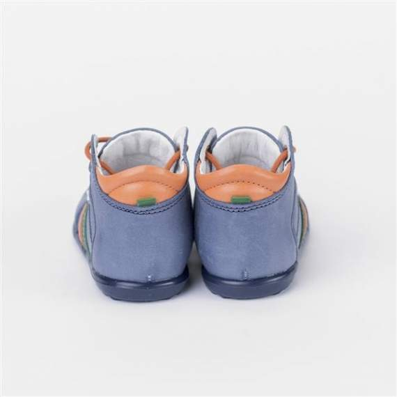 Emel Blue Leather Casual Shoes E851-2