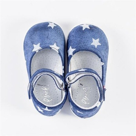 Emel Blue/White Stars Suede Pumps E2372