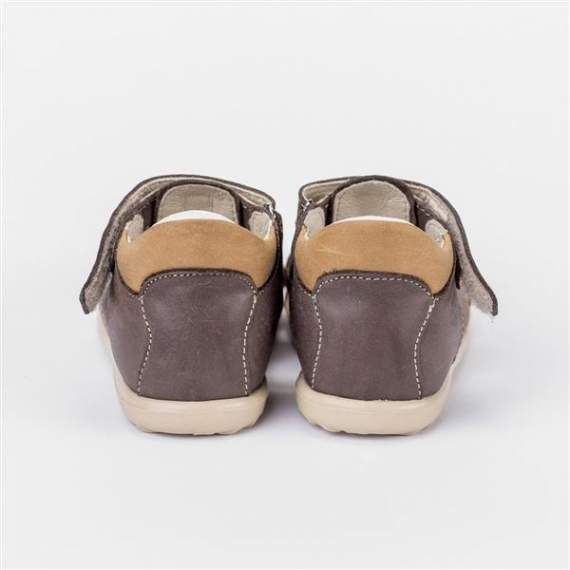 Emel Brown/Camel Leather sandals E2199-2