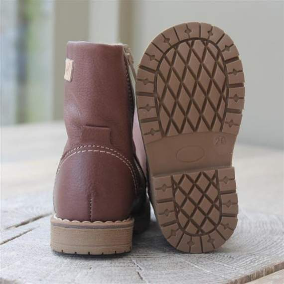 Emel Brown Leather Boots E2462-1