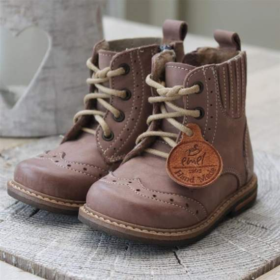 Emel Brown Leather Brogue Ankle Boots E2519