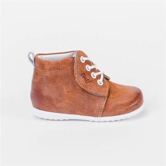 Emel Brown Suede Velcro/Lace Up Casual Shoes E2414