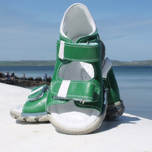 Emel Green Leather Sandals E1560-6