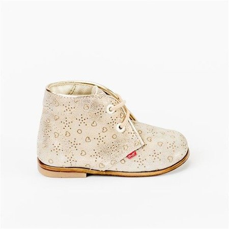 Emel Ivory & Golden Suede Shoes E2351