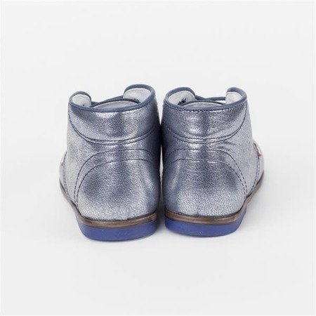 Emel Metallic Blue Leather Shoes E2345-2