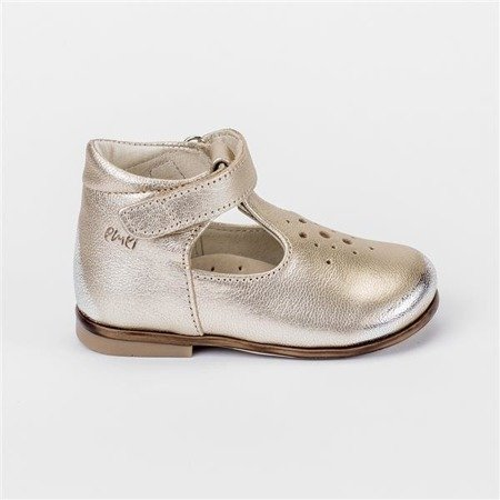 Emel Metallic Gold Leather Pumps E2384