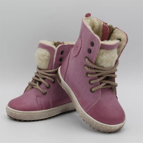 Emel Pink Leather Ankle Trainers E2651-4