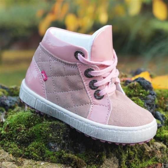 Emel Pink Leather Casual Shoes E2601a-2