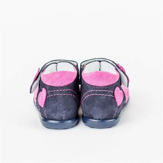 Emel Pink/Navy Suede Sandals E2213-7