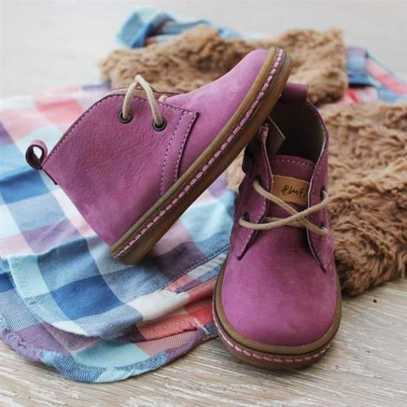 Emel Purple Suede Leather casual shoes E2621-2