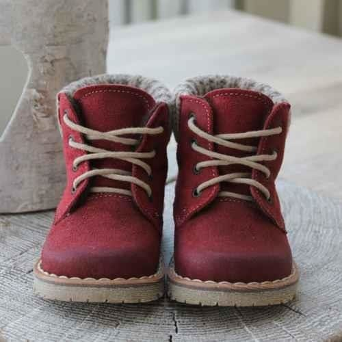 Emel Red Leather Ankle Boots E2540-2
