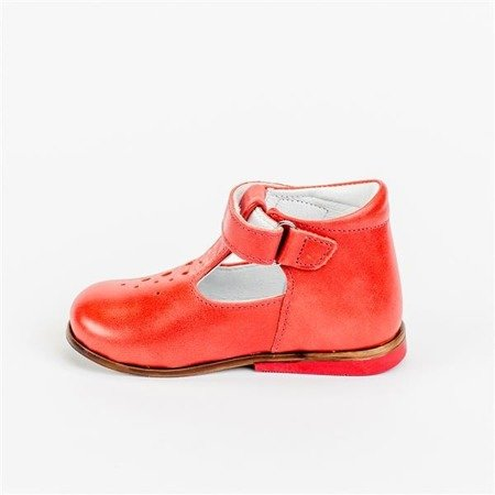 Emel Red Leather Pumps E2385-2