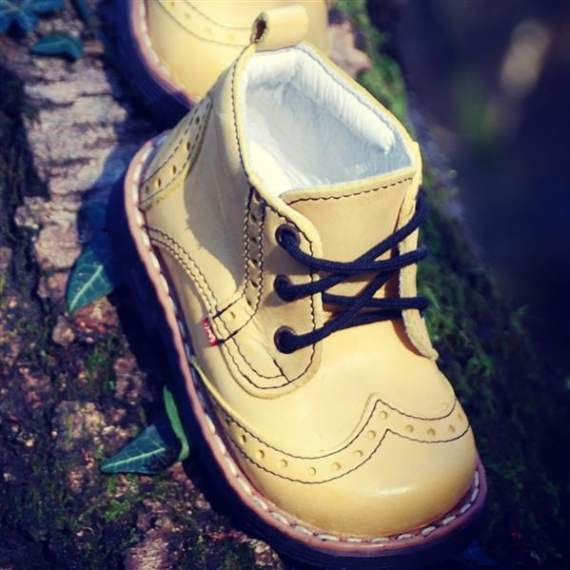 Emel Yellow Leather Ankle Boots E1733