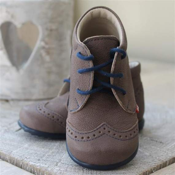 Emel brown leather casual shoes E2341-3
