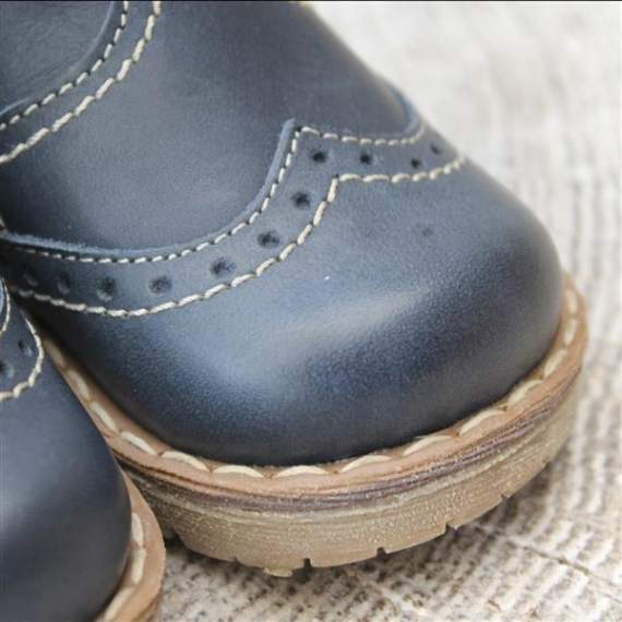 Emel navy leather ankle boots E1967-7