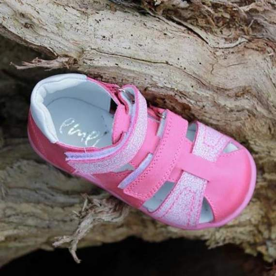 Emel pink leather sandals E2437-1